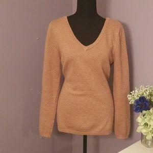 OLD NAVY Camel colored deep V neck sweater